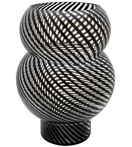 Dimond Home 464079 Bubble 16 X 12 inch Vase in Black and Clear