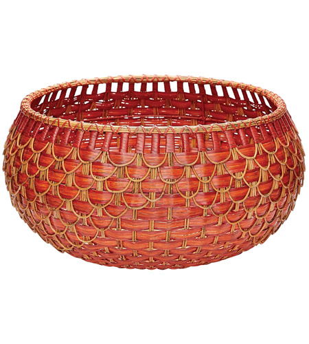 Dimond Home 466053 Fish Scale 27 X 14 inch Basket in Red and Orange, Large, Large