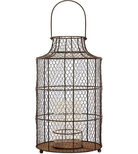 Dimond Home 594040 Chicken Wire 20 X 11 inch Candle Hurricane in Small, Small