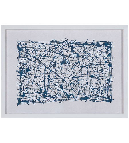 Dimond Home 7011-068 Blue Networks White Wall Art