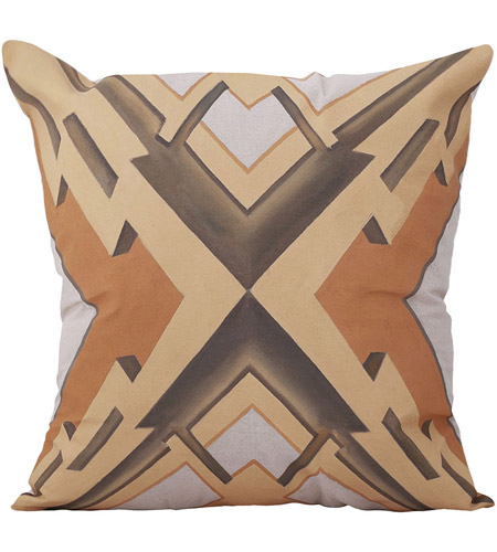 Dimond Home 7011-1303 Art Deco Graphic 22 inch Handpainted Art Pillow