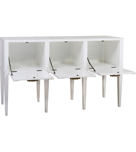 Dimond Home 7011-1500 Cabbie 61 X 16 inch High Gloss White and Polished Brass Console 7011-1500_alt1.jpg
