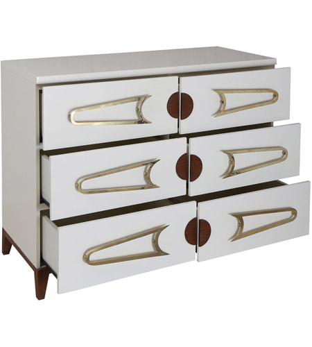 Dimond Home 7011-1516 Bang Cappuccino Foam and Polished Brass and Brown Stain Chest, 3 Drawer 7011-1516_alt1.jpg