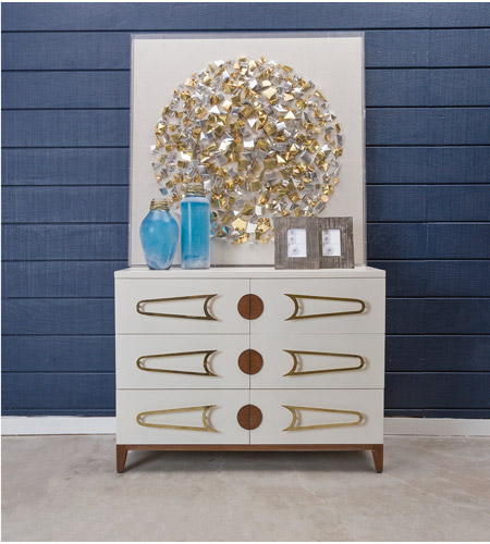 Dimond Home 7011-1516 Bang Cappuccino Foam and Polished Brass and Brown Stain Chest, 3 Drawer 7011-1516_rm1.jpg