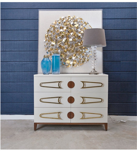 Dimond Home 7011-1516 Bang Cappuccino Foam and Polished Brass and Brown Stain Chest, 3 Drawer 7011-1516_rm2.jpg