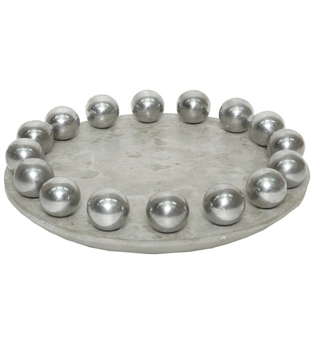 Dimond Home 7011-1541 Ball Waxed Concrete and Polished Aluminum Tray