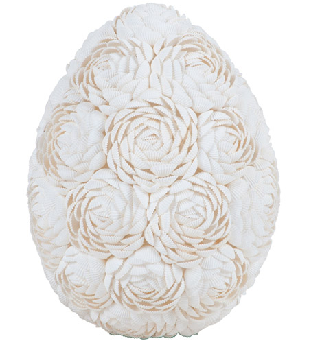 Dimond Home 7163-044 Abra Alba Natural Decorative Egg
