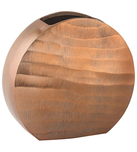 Dimond Home 8178-046 Faux Bois 9 X 8 inch Vase in Copper, Oval