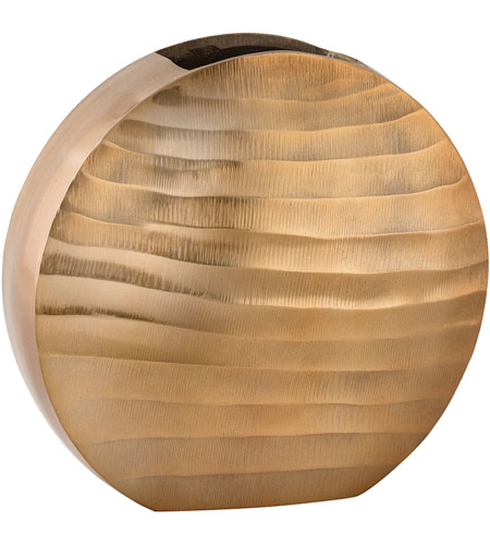 Dimond Home 8178-047 Faux Bois 11 X 10 inch Vase in Gold, Oval