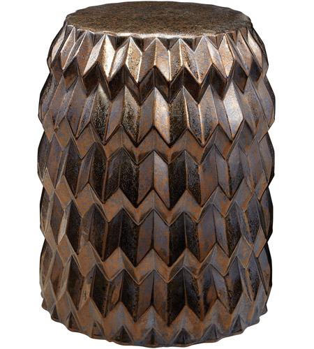Dimond Home 857-173 Chevron Bullet 20 inch Crystal Gold Stool