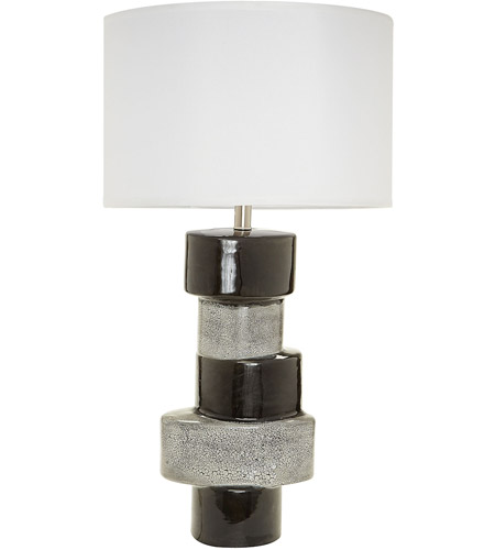 Gray and Black Table Lamps