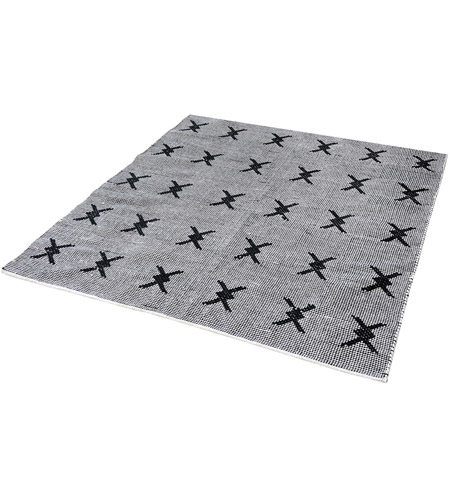 Dimond Home 8905-085 Eton 6 X 6 inch Black and White Rug in 6-inch Square