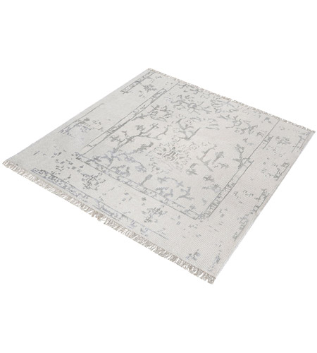 Dimond Home 8905-325 Belleville 16 X 16 inch Antique Ivory and Silver Rug in 16-inch Square