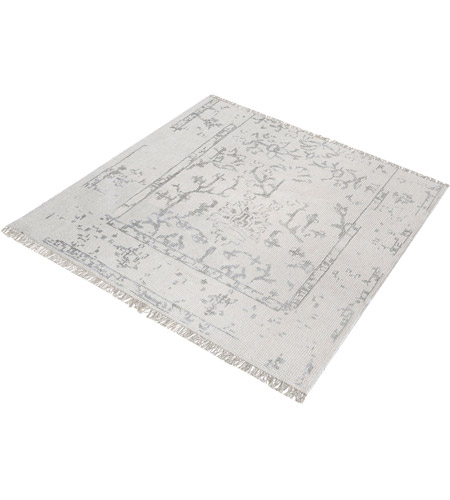 Dimond Home 8905-326 Belleville 6 X 6 inch Antique Ivory and Silver Rug in 6-inch Square