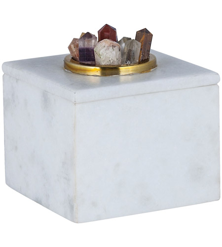 Dimond Home 8986-006 Christiana 5 X 5 inch White Marble Box