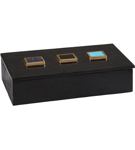 Dimond Home 8989-021 Antilles 12 X 8 inch Black Marble and Mixed Agate Box