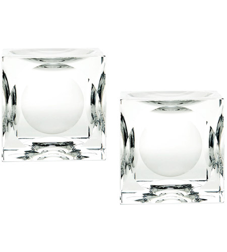 Dimond Home 980017/S2 Cube 4 X 4 inch Candle Holder in Large, Large