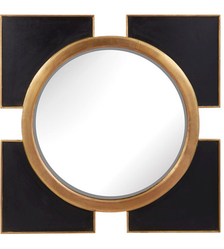Dimond Home 985-004 Coined Regency 36 X 36 inch Black and Gold Wall Mirror