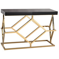 Dimond Home 1114-169 Deco 46 X 16 inch Gold Plate and Black Console Table