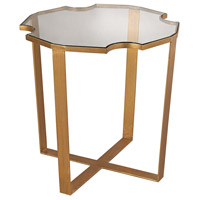 Cutout Top 21 X 16 inch Gold Leaf Side Table
