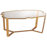 Cutout Top 42 X 24 inch Gold Leaf Martini Table Home Decor