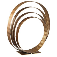 Concentric Rings Gold Leaf Tabletop Sculpture