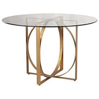 Dimond Home 1114-178 Box Rings Gold Leaf Entry Table