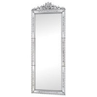 Camille 91 X 35 inch Clear Wall Mirror Home Decor, Rectangular