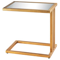 Andy 20 X 20 inch Gold Leaf and Clear Mirror Side Table