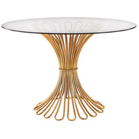 Dimond Home 1114-203 Flaired Rope 48 X 48 inch Gold Leaf Entry Table thumb