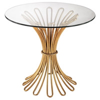 Flaired Rope 24 X 24 inch Gold Leaf Side Table