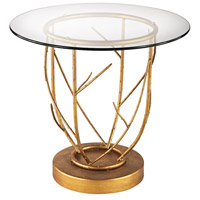 Thicket 22 X 22 inch Gold Leaf Side Table Home Decor