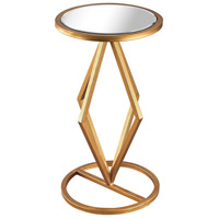 Vanguard 12 X 12 inch Gold Leaf and Clear Mirror Side Table Home Decor