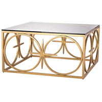 Amal 36 X 36 inch Antique Gold Leaf Coffee Table Home Decor