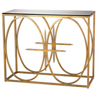 Amal 42 X 16 inch Antique Gold Leaf Console Table Home Decor