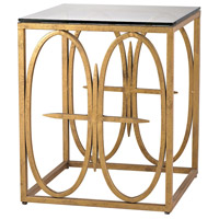 Amal 25 X 20 inch Antique Gold Leaf Side Table