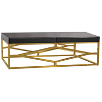 Beacon Towers 48 X 26 inch Gold and Black Coffee Table Home Decor