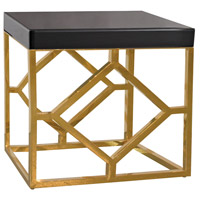 Beacon Towers 26 X 22 inch Gold and Black Side Table