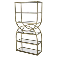 Intersecting Rounds Gold Leaf Bookcase