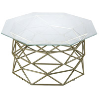Bracelet 32 X 32 inch Gold Leaf Coffee Table, Angular