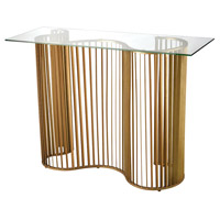 Wave 46 X 16 inch Gold Leaf Console Table
