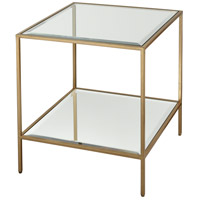 Scotch Mist 21 inch Gold Leaf and Mirror Side Table Home Decor