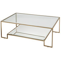 Dimond Home 1114-302 Scotch Mist 47 X 16 inch Gold Leaf and Mirror Coffee Table
