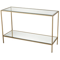 Scotch Mist 44 inch Gold Leaf and Mirror Console Table Home Decor