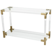 Dimond Home 1114-306 Equity 44 inch Clear Acrylic with Gold Plate Console Table
