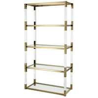 Dimond Home 1114-307 Equity 70 X 35 inch Clear Acrylic with Gold Plate Shelving Unit