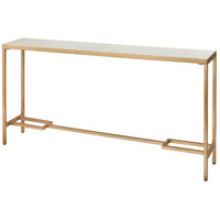 Equus 60 X 10 inch Antique Gold Leaf and White Console Table, Tall