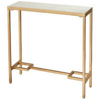 Equus 30 X 9 inch Antique Gold Leaf and White Console Table, Small
