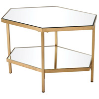 Pheromone 24 X 19 inch Antique Gold Leaf Accent Table