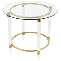 Pharoahs Chariot 28 inch Gold Plated and Clear Accent Table